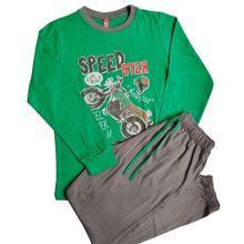 Pijama Moto Verde Vintage