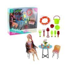 Muñeca Sophia con accesorios de playa. (((3724))) <<<es-AR>>>