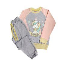 Pijama Unicornio Gris Vintage