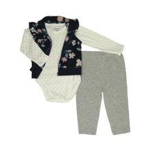 Conjunto De Chaleco Body Y Pantalon Bebes