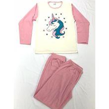 Pijama Manga Larga Rosa Eros