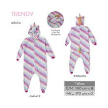 Pijama Una Pieza Unicornio Trendy