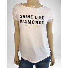 Remera con Estampa Shine Like a Diamond Natural ONYX