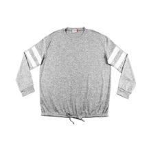 Camiseta de lanilla fina con nudo y recortes blancos plus size