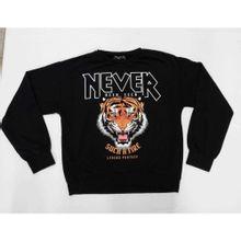 Buzo VAD rustico negro con estampa tigre