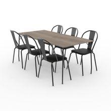Juego de comedor Dielfe MBK180 SMD2018 6 sillas