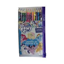 Set De 12 Lapices De Colores My Little Pony.